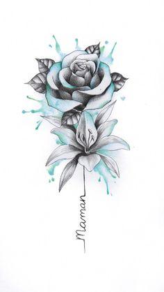 Tatuajes Simplemente me interesan los estilos de color las líneas y las líneas. Esto es ciertamente