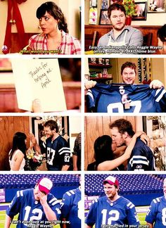 April and Andy. Relationship goals.
