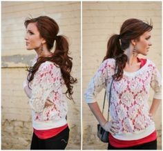 lace sweater - monteau by Workaholiclv