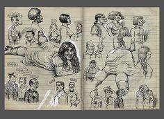 Robert Crumb c.1970 sketchbook by sokref1, via Flickr