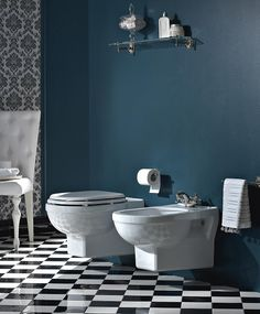#Sbordoni #Neoclassica suspended #toilet, #bidet and #wc-seat | on #bathroom39.com | #sanitary #bath #furniture #design
