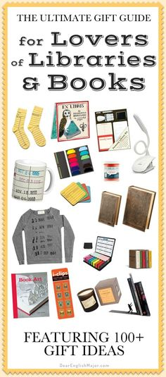 Library; books; gifts; gift guide; bookworm; library lover