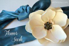 Bling It On Flower Sash #12MonthsofMartha #Marthastewartcrafts