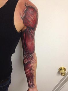Anatomical Muscle Ink by artist: Neil Nelson, Ascension Tattoo - www.ascensiontattoo.com