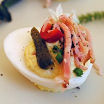 Deviled Duck Eggs at 20 Spot