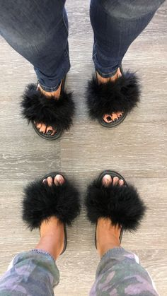 These furry slides are hottest trend around! These are custom ordered, could take up to a week to ship if not in stock. Slides are by NIke