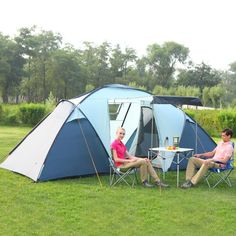 4 Person Tent with 2 Rooms a Breezeway and Sun Shade  sc 1 st  Pinterest & Coleman Elite Montana 8-Person Tent - Navy/Gray Blue | Montana ...