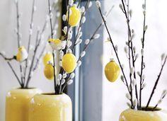 """405 likerklikk, 2 kommentarer – Interiør, gaver, ting & sånt (@kremmerhuset) på Instagram: """"Begynn å pynte så smått til påske med naturelementer og enkel, vakker pynt 👌🏻💛 Fugl 29,- / Egg 6-pk…"""""""