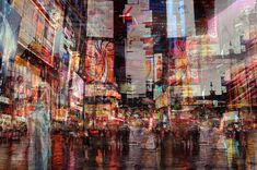 Photographer Stephanie Jung used layering to show the chaos of New York in a single image. Distortion Photography, A Level Photography, Experimental Photography, Exposure Photography, City Photography, Underwater Photography, Abstract Photography, Artistic Photography, Landscape Photography