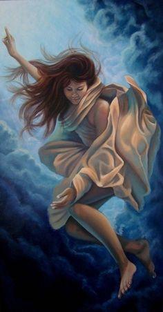 ☆ Angel :¦: By Artist Christina Ramos ☆ Christina Ramos, Woman Illustration, Various Artists, Art For Kids, Art Children, Beautiful Paintings, Art Images, New Art, Tattoo Designs