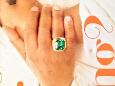 Love this ring! Oprah wore it on cover of her mag in 2010 from Lorraine Schwartz
