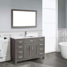 Studio Bathe Kalize 48 French Grey Single Vanity With Mirror