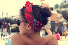bandana, beach, beautiful, fashion