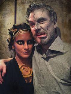I had way too much fun with my Medusa halloween costume. My boyfriend was my stone statue and I finally found the perfect excuse to put makeup on him.