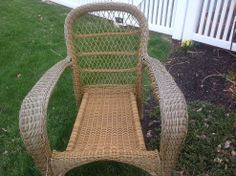 I need suggestions on how to repair the arms on these wicker chairs