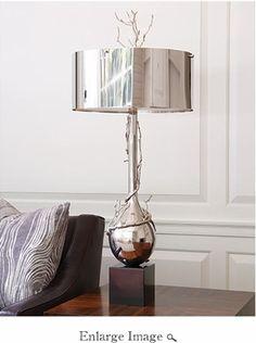 Global Views Twig Bulb Lamp-Nickel