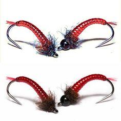Lightweight Purple Buzzers size 14 Set of 3 Fly Fishing Flies