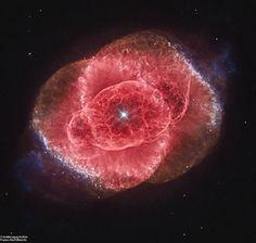 La nebulosa Occhio di Gatto, vista dal Telescopio Spaziale Hubble #buonasettimana