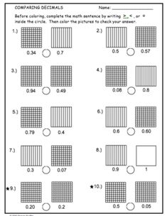 11 Comparing Decimals Worksheet paring Decimals Math Activities coloring word problems writing The children can enjoy Number Worksheets, Math Worksheets, Alphabet Worksheets, . Teaching Decimals, Teaching Subtraction, Comparing Decimals, Decimals Worksheets, Math Fractions, Number Worksheets, Alphabet Worksheets, Teaching Math, Maths