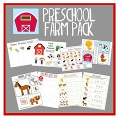 Free pack of farm activities for Pre-K/ PreSchool. Preschool At Home, Free Preschool, Preschool Themes, Preschool Printables, Preschool Lessons, Preschool Kindergarten, Preschool Learning, Teaching, Free Printables