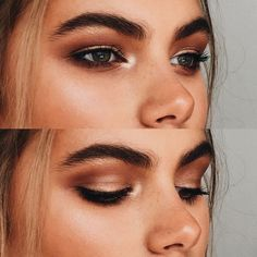 We love this warm-toned smokey eye look that is enhanced by the beautiful highlighting and bold brows! We love this warm-toned smokey eye look that is enhanced by the beautiful highlighting and bold brows! Eye Makeup Tips, Smokey Eye Makeup, Makeup Trends, Skin Makeup, Makeup Brushes, Makeup Ideas, Makeup Products, Makeup Tutorials, Makeup Remover