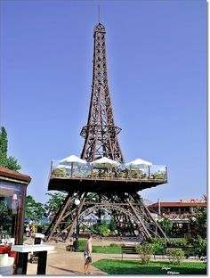 Bulgaria's Golden Sands Eiffel Towerin Varna.