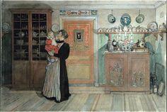 Between Christmas And New Year-Carl Larsson – Swedish Painter)