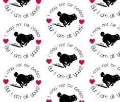pug wall sticker!!!! fabric by lil_creatures on Spoonflower - custom fabric