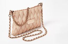 Valentino Vanille Italian Leather Convertible Crossbody Shoulder Bag Rose Pink #Valentino #ShoulderBag