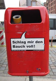 Hamburg- trash bin