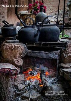 Witch Cottage: ~ At Wedgwood Potteries. Witch Cottage: ~ At Wedgwood Potteries. Witch Cottage, Witch House, Wedgwood Pottery, Kitchen Witchery, Witch Aesthetic, Cauldron, Outdoor Cooking, Wabi Sabi, Bushcraft