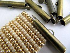 End Caps Slider Clasps Loom Bead Patterns by FeelingstoneGiftsLLC