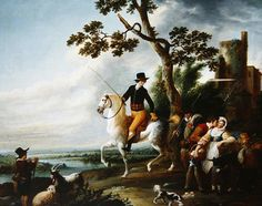 A Romantic Meeting by Louis Joseph Watteau