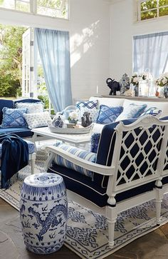 Blue daze Here's some heavenly Hamptons inspiration in shades of blue to start you ...