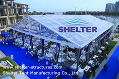 Shelter Party Tent marquees are available in a variety of different shapes and sizes which are available in clear-span widths of 6m / 9m / 12m / 15m,20m, and large span 30-50m. http://www.shelter-structures.com/products