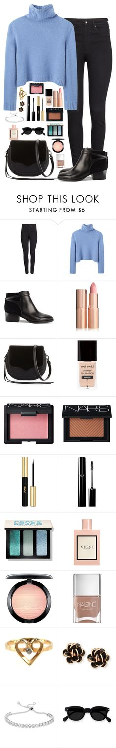 """Bombón Asesino"" by macapaz ❤ liked on Polyvore featuring H&M, The Row, Rebecca Minkoff, NARS Cosmetics, Yves Saint Laurent, Bobbi Brown Cosmetics, Gucci, MAC Cosmetics, Nails Inc. and Chantecler"