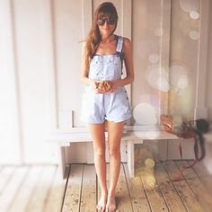 Overall Shorts - The cutest summer outfit !
