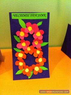 8 Mart Kadınlar Günü Çiçekleri - Önce Okul Öncesi Ekibi Forum Sitesi - Biz Bu İşi Biliyoruz 8th Of March, Ladies Day, Martini, Diy And Crafts, Preschool, Birthday, Flowers, Women, Party