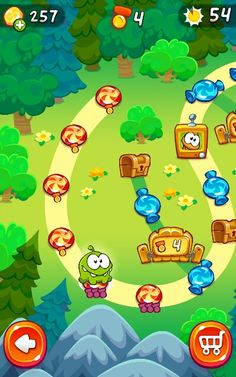 Cut the rope - Map levels