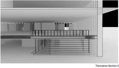 Hunt Library Addition: Transverse Section 2 Draft #kerrianfrance #48105-S15