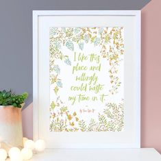 Are you interested in our new home print? With our house warming gifts you need look no further. Housewarming Quotes, Quote Prints, Wall Art Prints, Floral Quotes, New Home Gifts, Wooden Blocks, White Wood, Ideal Home, Like Me
