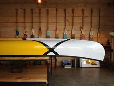 Love the graphic paddles and canoe. Would love the paddles on the lake house wall as art! abitibi_norquay_canoe_01