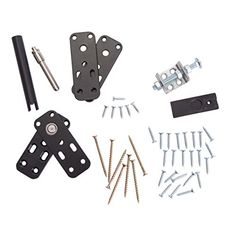 Murphy Door hardware kits contain our patented hidden door hinges and all the related hardware needed to build your very own flush mounted hidden door. Hidden Door Hinges, Sliding Barn Door Hardware, Sliding Doors, Door Latches, Barn Door Closet, Diy Barn Door, Cheap Barn Doors, Murphy Door, Murphy Bed