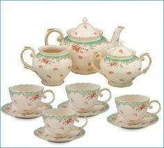 Gracie China Vintage Porcelain 11-Piece Tea Set