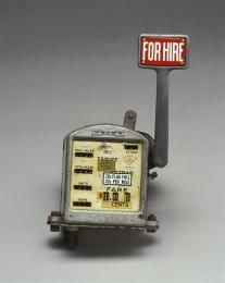 "B2314 Taxi-meter, ""Halda"" brand, made by Haldex AB, Halmstad, Sweden, aluminium & steel casing, used in Australia until 1970s. - Powerhouse Museum Collection"