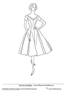 Image detail for -1950 Dress Patterns,Free Printable Vintage Dresses 1950's Fashion