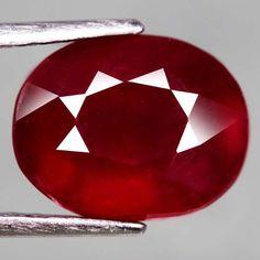 5.98 Ct.8.7x6.3mm. Marvelous! Natural Ruby Oval Facet Top Blood Red Madagascar #Gemnatural