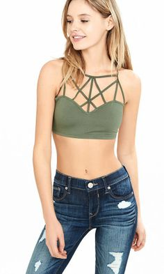 Olive Express One Eleven Extreme Strappy Bralette from EXPRESS