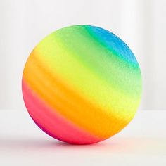 Violet is obsessed with playground balls - so pinning one for each. They used to have these at Rite Aid, now we can't find locally: Rainbow Playground Ball  | The Land of Nod