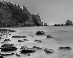 Beautiful black and white long exposure work +Steven Reed   #alaska #kodiak #sprucecape @anewdawnphoto